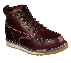 Brown Red Skechers Work Relaxed Fit: Boydton