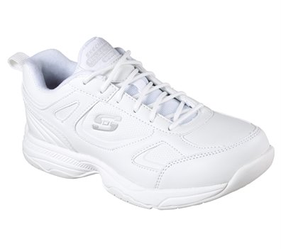 White Skechers Work Relaxed Fit: Dighton - Bricelyn SR - FINAL SALE