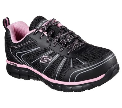 PINKBLACK Skechers Work: Synergy - Algonac Alloy Toe