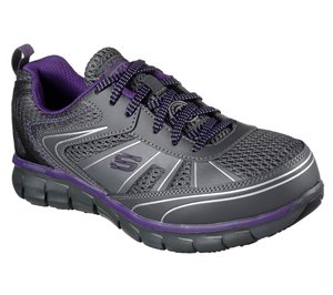 PURPLEGRAY Skechers Work: Synergy - Algonac Alloy Toe