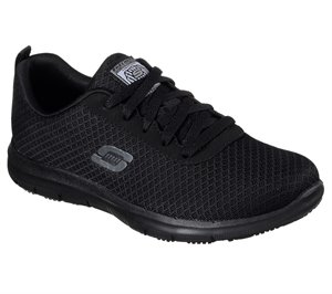 BLACK Skechers Work Relaxed Fit: Ghenter - Bronaugh SR - FINAL SALE