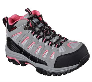 Pink Gray Skechers Work: Bellshill ST