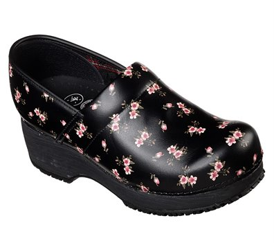 Pink Black Skechers Work: Clog SR - FINAL SALE