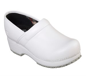White Skechers Work: Clog SR