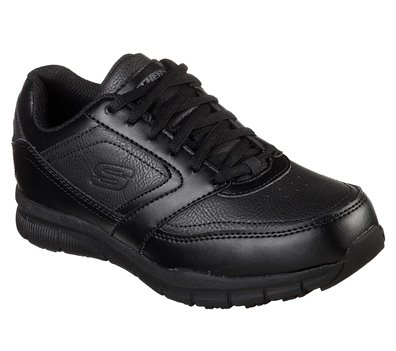 BLACK Skechers Work Relaxed Fit: Nampa - Wyola SR
