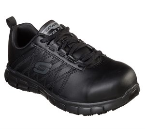 Black Skechers Work: Sure Track - Martley ST - FINAL SALE