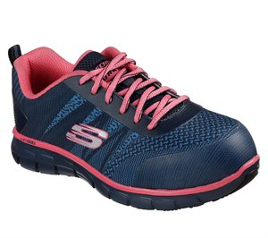 Pink Gray Skechers Work: Sure Track - Saquenay Alloy Toe - FINAL SALE