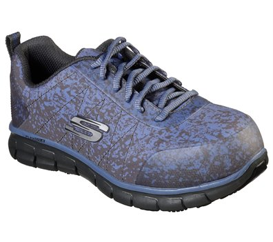 Blue Gray Skechers Work: Sure Track - Flinser Alloy Toe