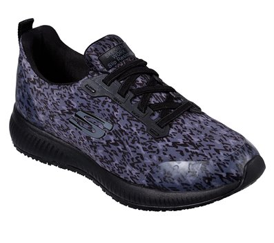 Black Gray Skechers Work Relaxed Fit: Squad SR - Ankey