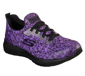 Black Purple Skechers Work Relaxed Fit: Squad SR - Ankey