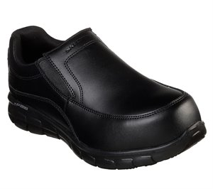 Black Skechers Work: Synergy - Wapeeco Alloy Toe