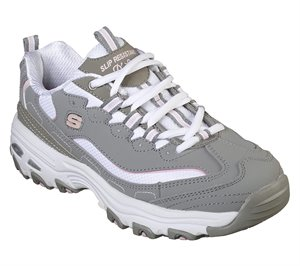 Pink Gray Skechers Work Relaxed Fit: D'Lites SR - Health Care Pro