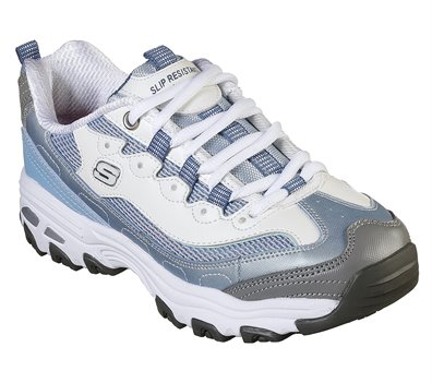 White Blue Skechers Work Relaxed Fit: D'Lites SR - Health Care Pro - FINAL SALE