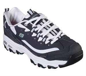 White Navy Skechers Work Relaxed Fit: D'Lites SR - Health Care Pro