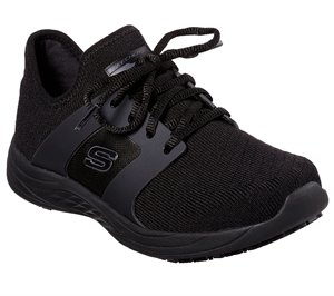 Black Skechers Work Relaxed Fit: Toston - Auley WP SR