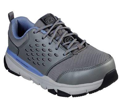 Blue Gray Skechers Work: Soven Alloy Toe - FINAL SALE