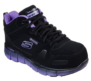 Purple Black Skechers Work: Telfin - Chedi ESD