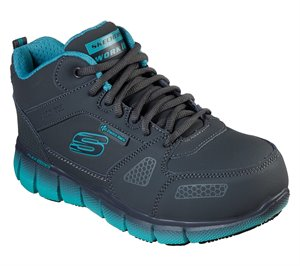 Green Gray Skechers Work: Telfin - Chedi ESD - FINAL SALE