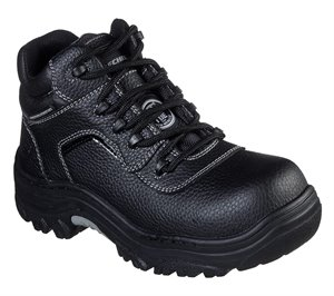 Black Skechers Work: Burgin - Coralrow Comp Toe - FINAL SALE