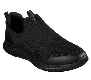 Black Skechers Work Relaxed Fit: Cessnock - Colleton SR