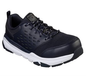 White Black Skechers Work: Soven Alloy Toe