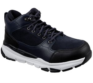White Navy Skechers Work: Soven - Austell Alloy Toe