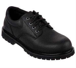 Black Skechers Work Relaxed Fit: Cottonwood - Jaken SR - FINAL SALE
