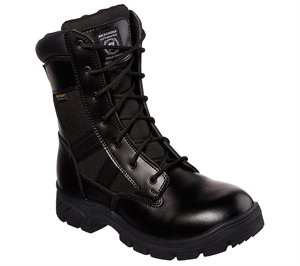 Black Skechers Work Relaxed Fit: Wascana - Athas Tactical - FINAL SALE