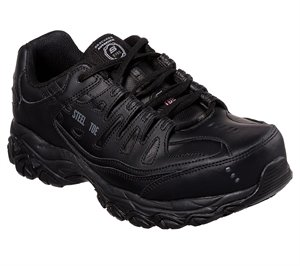 Black Skechers Work: Holdredge - Keymar ST