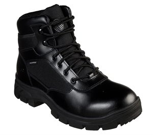 Black Skechers Work Relaxed Fit: Wascana - Benen WP Tactical