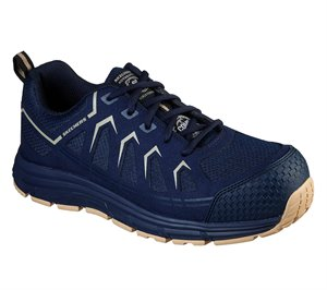 Natural Navy Skechers Work: Malad Comp Toe