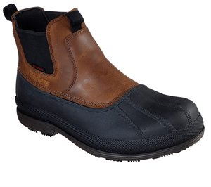 Brown Skechers Work: Robards - Caside SR WP - FINAL SALE