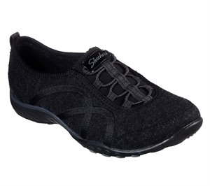 Black Skechers Wash-A-Wools: Breathe Easy - Pleasantly