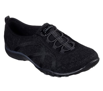 Black Skechers Wash-A-Wools: Breathe Easy - Pleasantly - FINAL SALE