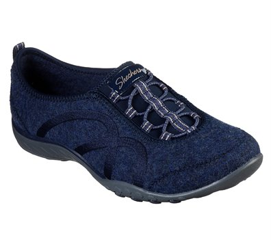 Navy Skechers Wash-A-Wools: Breathe Easy - Pleasantly - FINAL SALE