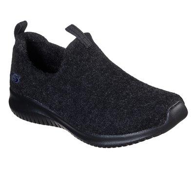 Black Skechers Wash-A-Wools: Ultra Flex - Little Cozy - FINAL SALE
