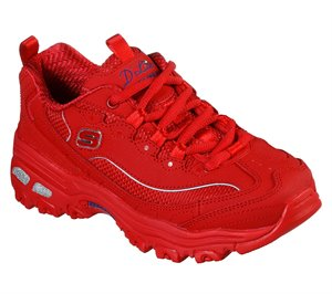Red Skechers D'Lites - Color Chrome