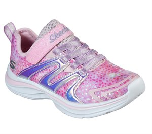 Gold Pink Skechers Double Dreams - Unicorn Wishes