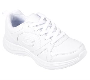 White Skechers Glimmer Kicks - Live N' Learn