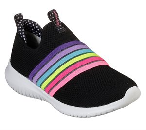Multi Black Skechers Ultra Flex - Brightful Day