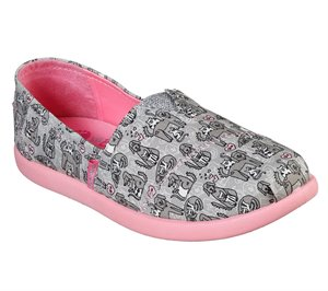 Pink Gray Skechers Lil BOBS Solestice 2.0 - Friends Fur-Ever