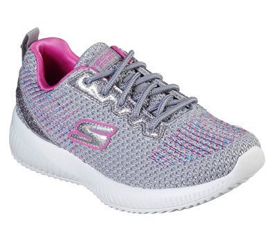 dirt cheap online here new york Skechers Lil BOBS Sport Squad - Glitter Charm in Pink Gray ...
