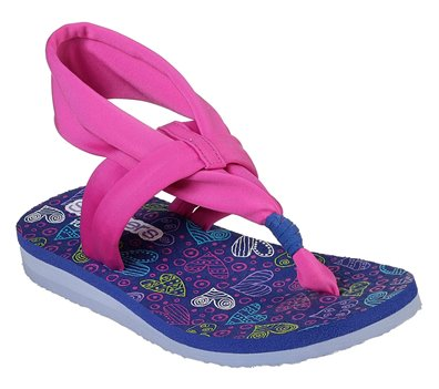 Navy Pink Skechers Meditation - Heart Flex