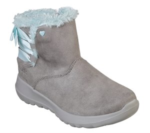 Blue Gray Skechers Skechers On the GO Joy - Bow-Riffic