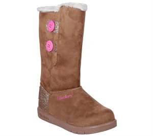 Brown Skechers Sparkle Glam - Cozy Princess