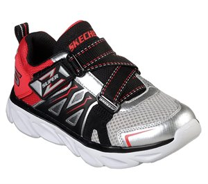 Red Silver Skechers S Lights: Hypno-Flash 3.0 - Swiftest