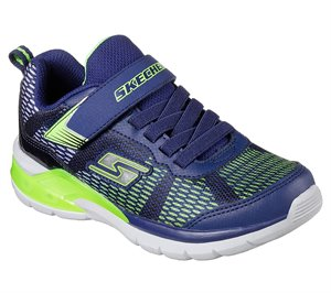 Green Navy Skechers S Lights: Erupters II - Lava Waves