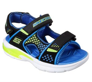 Green Black Skechers S Lights: E-II Sandal - Beach Glower