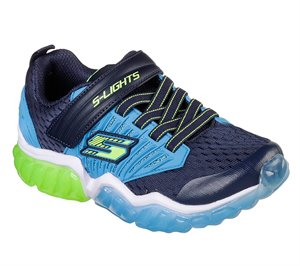 Blue Navy Skechers S Lights: Rapid Flash