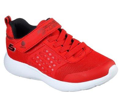 Black Red Skechers S Lights: Dyna-Lights - FINAL SALE